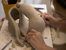 Sculptors often begin their work with siltstone.