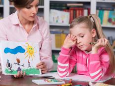 A developmental psychologist may study whether or not a child is developing normally, physically and mentally.