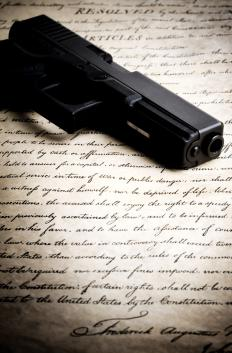 The right to bear arms is outlined in the Bill of Rights, which is taught in U.S. citizenship courses.