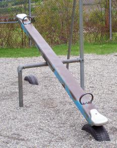 The fulcrum of a see-saw is the area in the middle upon which the lever balances.