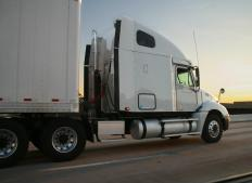 Mud guards, also known as mud flaps, are a common sight on large trucks.