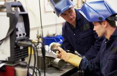 An offshore trainee is likely to undergo some classroom training in welding.