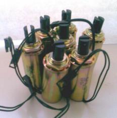 Electric solenoids.