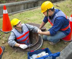 Manhole covers are made from ductile iron.