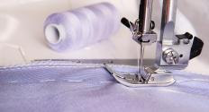 A running stitch is often part of an introduction to sewing.