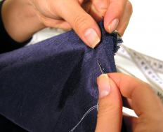 Hem tape will hold fabric in place for a crisp hem.