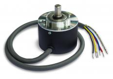 A shaft encoder may be used to determine the rotational angle of a shaft.