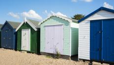 Storage sheds are available in a variety of sizes.