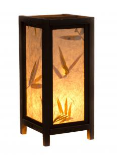 Shoji lamps are glowing boxes of bamboo and paper.