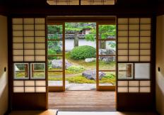Shoji screens may provide privacy when living space is at a minimum.