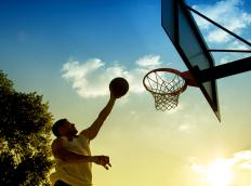 A backyard basketball hoop might be a good idea for active families.