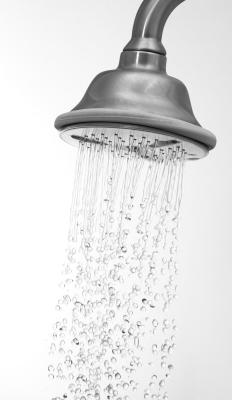 A waterfall shower head.