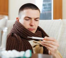 Acetaminophen and ibuprofen can be taken to ease the fever and aches of a chest cold.