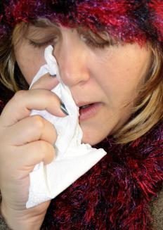 Allergies can cause flaky nose skin.