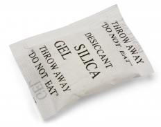 Drying agents like silica gel can be used to preserve flowers.