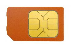 A closeup view of a SIM card.
