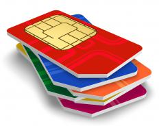 SIM cards for a quad band mini phone.