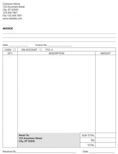 A sample invoice.