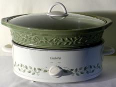 A slow cooker is a type of electric cooker that can be used to cook full meals and meat.