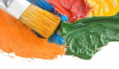 Different kinds of paints may be combined in mixed media painting.
