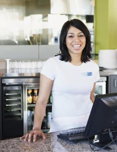A cashier who is required to stand on her feet throughout an eight-hour shift may eventually develop varicose veins.