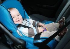 Babies under 20 pounds should never be placed in booster seats but instead in rear-facing car seats.