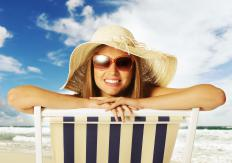 A pinguecula, a common type of eye lesion, may appear on people who experience excessive sun exposure.