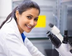 A geochemist may work in a research lab.