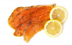 Cold smoked foods may include salmon.