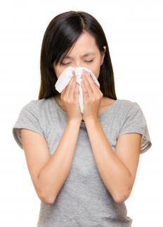 A congested or running nose is one of the first signs of a cold.