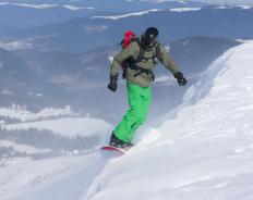 "Snowboarding is a popular activity among Colorado's many ""fourteeners""."