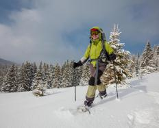 Skiers must wear clothing that will keep them warm and dry.