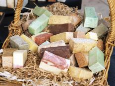 Many natural soaps contain ant-repelling ingredients.