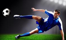 Soccer players usually wear athletic underwear.