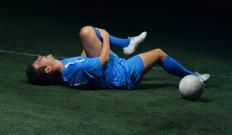 Many soccer players experience leg pain while competing.