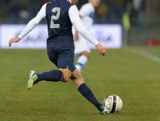 Forceful use of one leg over the other, such as the case when kicking a soccer ball, can cause pain around the groin.