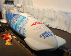 The bobsled is designed for speed.