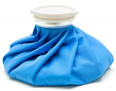 An ice pack can be used to treat toe pain.