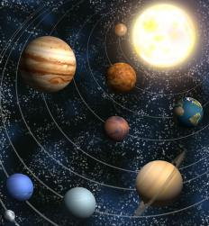 Gravity keeps all objects in the solar system in their orbits.
