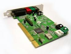 A PCI sound card is a type of computer device that allows audio applications to run properly and for devices such as speakers and microphones to be connected to the computer.