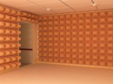 A soundproof room.