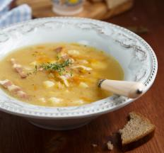 Irish bacon makes a great addition to soup.