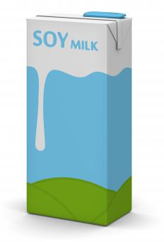 Soy milk may be used in dairy-free quiche.