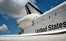 Heat-resistant ceramic tiles were used to protect the Space Shuttle's exterior during re-entry.