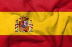 The flag of Spain.
