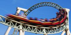 Magnetic propulsion is used to launch a roller coaster into high speed when the ride begins.