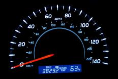Speedometers can be digital or analog.