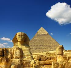 It is believed that the Sphinx, which is 65 feet tall, was constructed around 2500 BCE.
