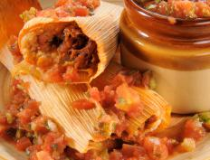 Authentic foods like tamales may work well at a Mexican-themed party.