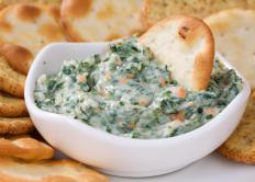 Spinach may be used as a dip.